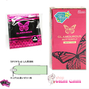 Bao cao su Glamcurous Butterfly moist 1000